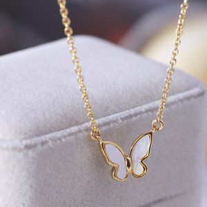 Kate Spade White Butterfly Necklace